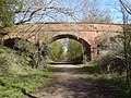 Bridge over previous railway line at Donisthorpe, Leicestershire.jpg