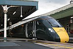 Bristol Temple Meads - GWR 800012 evening train to London.JPG