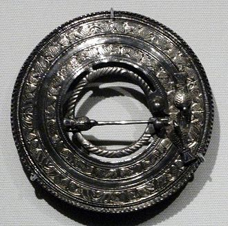 Sarre Anglo-Saxon cemetery - The Sarre Brooch in the British Museum, the classic example of the Anglo-Saxon Quoit Brooch Style