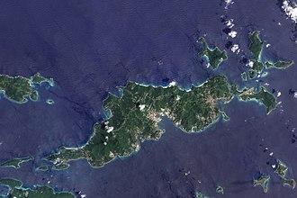 Geography of the British Virgin Islands - British Virgin Islands - NASA ALI Earth Observing-1 (Visible Color) Satellite Image