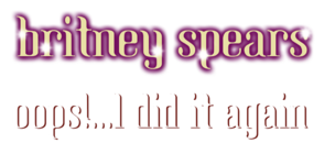 Britney Spears - Oops!... I Did It Again Album Logo.png