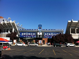 Albertsons Stadium - South end zone exterior in 2012