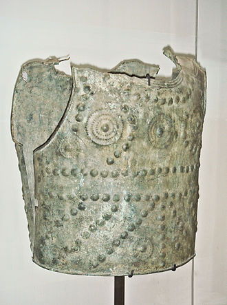 Gauls - Bronze cuirass, weighing 2.9 kg, Grenoble, end of 7th century – early 6th century BCE