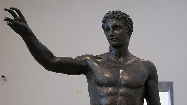 Bronze statue of a youth, about 340-330 BC. (3470824675).jpg