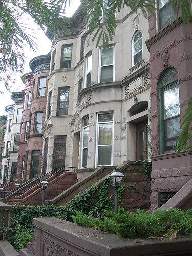Brooklyn brownstones in Stuyvesant Heights built between 1870-1899