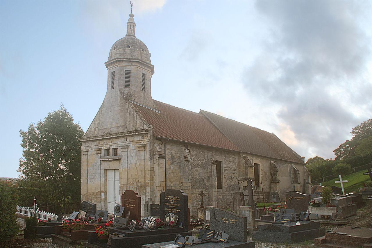 photographie représentant l'église de Brucourt