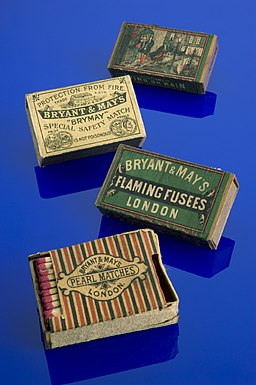 Bryant & May 'Pearl' safety matches, London, England, 1890-1 Wellcome L0058858