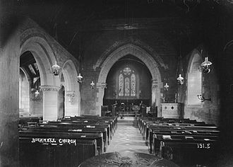Bucknell, Shropshire - Bucknell church c.1910s