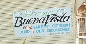 "Buena Vista, Virginia - ""6002 happy citizens and 3 old grouches"""