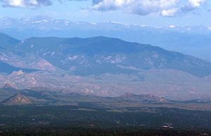 Buffalo Peak - Image: Buffalo Peak, Jefferson County, viewed from Pikes Peak