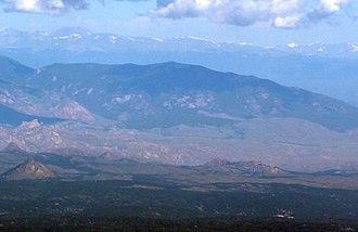 Buffalo Peak - Image: Buffalo Peak, Jefferson County, viewed from Pikes Peak