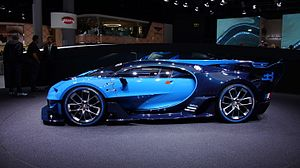 Bugatti Vision Gran Turismo - Side view of the Vision Gran Turismo.