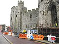Building a disabled persons' entrance to Caernarfon Castle - geograph.org.uk - 1052088.jpg