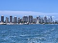 Buildings in the centre of the Gold Coast seen from The Broadwater, Queensland, 2020.jpg