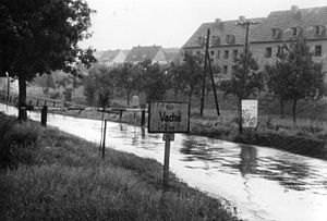 Bundesstraße 62 - B 62 at the German-German border, 1952