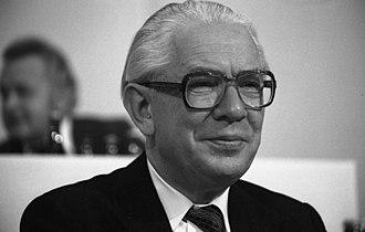Glücksburg - Kai-Uwe von Hassel in 1978