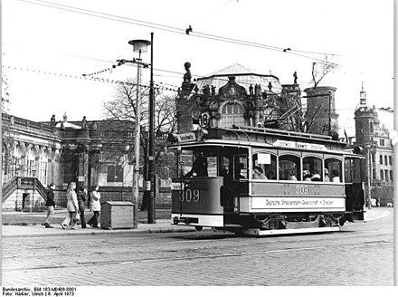 Dresden straßenbahn in Linie 5