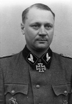 Oberführer - Joachim Rumohr, as an SS-Oberführer of the Waffen-SS