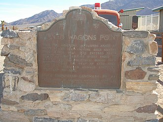 California Historical Landmarks in Inyo County - Image: Burned Wagons Point Plaque