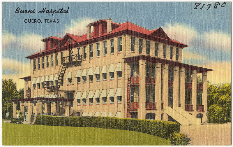 File:Burns Hospital, Cuero, Texas.jpg