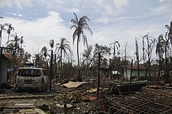 Burnt down house in northern Rakhine State (Moe Zaw-VOA).jpg