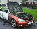 Burnt out car - geograph.org.uk - 1654378.jpg