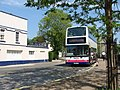 Bus X80 at bus stop near The Plains, Totnes - geograph.org.uk - 2054874.jpg