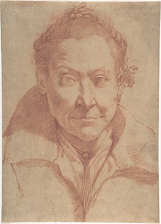Agostino Carracci - Bust-Length Portrait of a Woman
