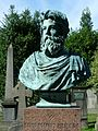 Bust of David Octavius Hill, Dean Cemetery Edinburgh.jpg