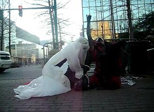 Butoh - Butoh performance in Lafayette, Louisiana, USA