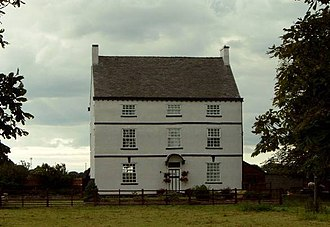 Lowton - Byrom Hall, ancestral home of the Byrom family