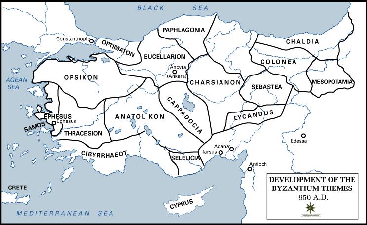 Byzantine Empire Themata-950