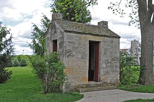 National Register of Historic Places listings in Madison County, Iowa - Image: C.D. AND ELISHA HEATH BEVINGTON PRIVY, MADISON COUNTY