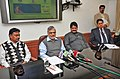C.P. Joshi interacting with the Press on the issue of IT initiatives introduced in the Ministry, in New Delhi. The Ministers of State for Road Transport and Highways.jpg