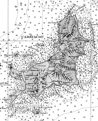 Carriacou - Nautical Chart of Carriacou from 1891