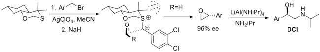 chiral oxathiane reagent for the Johnson–Corey–Chaykovsky reaction