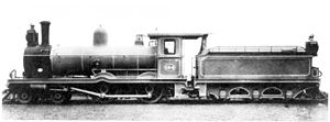 CGR 3rd Class 4-4-0 1898 - Works picture of a 3rd Class Wynberg Tender of 1898