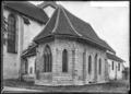 CH-NB - Hauterive (FR), Abbaye, Chapelle de Saint-Nicolas, vue d'ensemble extérieure - Collection Max van Berchem - EAD-6911.tif
