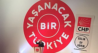 Kemal Kılıçdaroğlu - Kılıçdaroğlu announcing the CHP manifesto for the June 2015 general election.