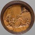 CLODIUS PULCHER UND POMPEIA. SPIELSTEIN FÜR DAS BRETTSPIEL FÜR DEN 'LANGEN PUFF' 1537 Künstler. Hans Kels d. Ä. , Schnitzerei.png