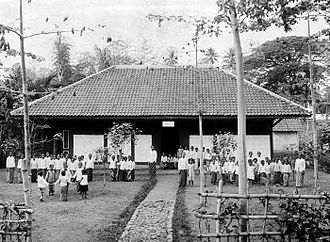Pati Regency - A school in Pati, colonial Dutch East Indies era.