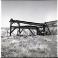 Cable Mountain headworks and remains of cable device. ; ZION Museum and Archives Image 005 04 005 ; ZION 9185 (86e881cd1e0447e09e45059123ed0a8d).tif