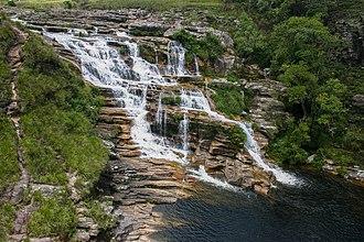 Serra da Canastra National Park - Image: Cachoeira São Francisco Serra da Canastra