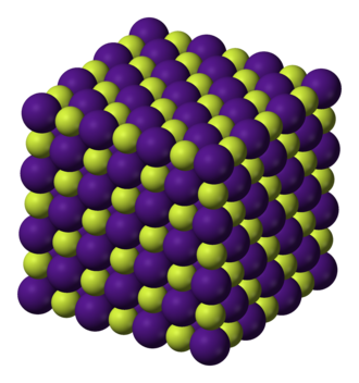 Caesium fluoride - Image: Caesium fluoride 3D ionic