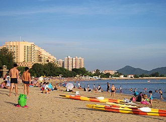 Beach - Golden Beach, an artificial beach in Hong Kong