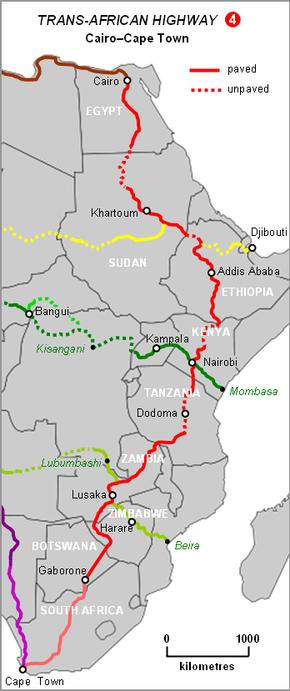 Cape to Cairo Road - Wikipedia