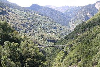 Val Calanca - The entrance of the Val Calanca