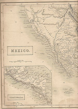 Utah - Map showing Utah in 1838 when it was part of Mexico. From Britannica 7th edition.