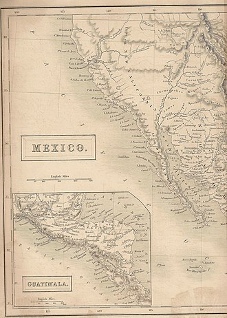 "Great Salt Lake - Map showing ""Lake Youta or Salt Lake"" in 1838 when it was in Mexico. From Britannica 7th edition."