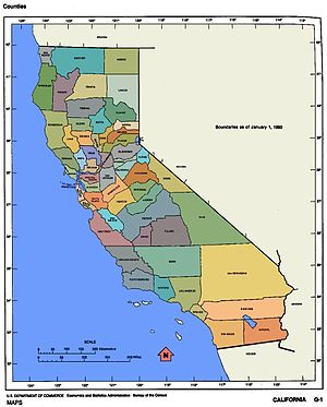 Map of the Counties of California